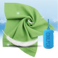 Colorful ice cold towel with silicone case enduring running quickly dry cooling towels jogging gym cool outdoor sports toweling NHD7641