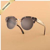 2021 Acetate Wood Sunglass Men Women PC Bamboo Templ arms Eyewear Custom Fashion Mirror OEM Spring