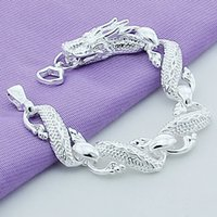 Trendy 925 Sterling Silver White Chinese Dragon Chain Bracelets For Men Fashion Jewelry Pulseira Male