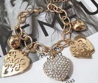 Charm Bracelets Arrival Jewelry Heart & Bangles Gold Color For Women Pulseras Bracelet