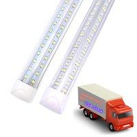 25 قطعة، 8ft أضواء متجر LED، 8 أقدام برودة الباب الفريزر أنبوب تركيبات الإضاءة، 2 صف 100 واط 10000 LM، شكل V شكل أنابيب الفلورسنت غطاء واضح