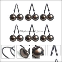 Décor & Garden12Pcs Household Bathroom Curtain Rings Iron Shower For Home Other Decor Drop Delivery 2021 Jkv84
