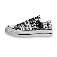 PersonalizationCustom Zapatillas impresas Música Banda de música Logo Foo Fighters Sneakers Low Unisex Mens Mensaje Monopatín Deporte Calzado DIY Entrenadores de DIY Lienzo Casual Shoe
