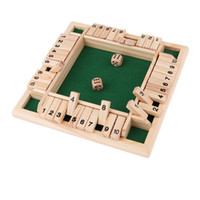 Shut the Box Wooden Board Games Wood Flaps & Dices for 4 People Pub Bar Party Supplies Houten Bordspel