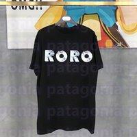Moda Erkek T Gömlek Yaz Tasarımcısı Bayan Kısa Kollu Yüksek Kalite Çiftler Yıldız Ve Çiçek Baskı Tees Polo Boyutu M-2XL