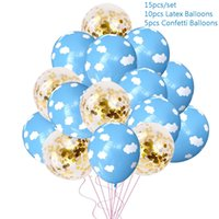 2.5g Inflatable Cloud Print 12 Inch Latex Balloon for Wedding Decorations Air Ball Party Supplies Happy Birthday