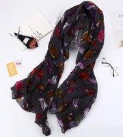 2018 printemps et automne nouveau foulard imprimé printemps et automne femmes trholes de coton foulard