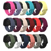 Solid Color Silicone Wrist Strap Replacement Watch Band for Fitbit Versa 3 Smart Adjustable Solo Loop wholesale