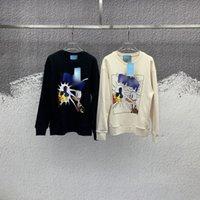 21SS 유럽 봄 럭셔리 캐주얼 스타일 귀여운 오리 사진 인쇄 고품질 스웨터 이탈리아어 대나무 스타일 남성 디자이너 탑 패션 코튼 혼합 스웨트 셔츠