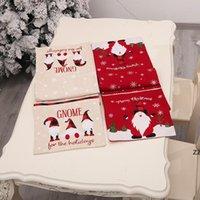 Рождественский стол бегун скатерть хлопчатобумажные льняные столовые крышки Santa Claus флаг таблицы платье скатерть едят коврик рождественские украшения HWA8521