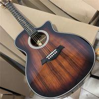 Koa bois k24ce guitare acoustique 41 pouces coupe sunburst k24 guitare acoustique acoustique arbre de vie incrustations laminées koa-bois-acoustique-guitare