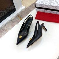 حذاء فستان الزفاف 6.5 سنتيمتر عالية الكعب ماركة النساء مضخات صندل عارية الأزياء الكاحل الأشرطة مثير الزفاف حجم 42