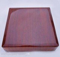 Caixas de embalagem da caixa de jóia da colar de pérolas de madeira maciça inteira Mylh -009y