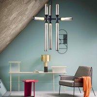 بسيطة ما بعد postmodern الإبداعية شخصية الزجاج جولة أنبوب غرفة المعيشة الثريا مطعم غرفة نوم فيلا المنزل الديكور الإضاءة LIG