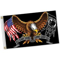 Hepsi biraz pow-mia kartal bayrakları 3x5, 100d polyester özel baskı dijital, kapalı ouotdoor çift dikiş