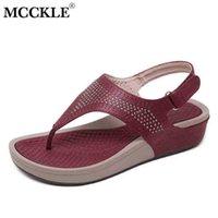 Mcckle mulher retro sandálias mulheres flip flops gancho gancho loop thong praia sapatos casuais senhoras plana costura fora verão 210608