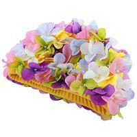 Персонализированные трехмерные петли плавательные крышки для длинных волос открытый женщины цветы дизайн шапки нежные 5 цветов