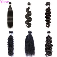 30 Inch Human Hair Bundles Straight Body Wave Deep Wave Kinky Straight Loose Wave Kinky Curly Yaki Brazilian Virgin Remy Human Hair Weave Bundles Weave Extension