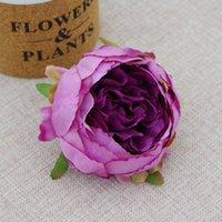 9cm Runde Pfingstrose Kopf Dekorative Hochwertige Hochzeit DIY Blume Bogen Wand Simulation Seide Camellia Rose GGA4319