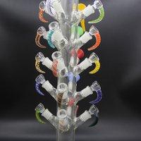 Чаша Дерево из стекла на 14 мм Мужская Слайд-курение Аксессуары для курения 21 головы