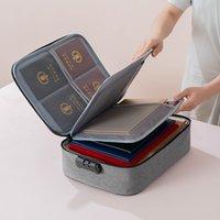 حقيبة تخزين معرف المنزلية متعددة الطبقات شهادة سعة كبيرة ملف حزمة جواز السفر حزمة تنظيم مجلدات