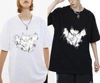 Homens camisetas Japão Morte Nota Yagami Light oponente L Lawliet Impressão Tshirt Mulheres Mulheres Moda Streetwear Tees Verão UNISEX T-shi