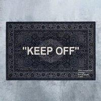 Neew Upgrade! Weißer Cashew-Fower Halten Sie die Teppiche Bodenmatten Trendy Designer Teppichdekorationen Teppich