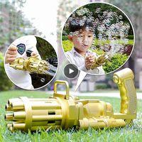 Kinder Automatische Gatling Bubble Gun Spielzeug Sommerseife Wasser Blase Maschine Electric Für Kinder Geschenk Spielzeug