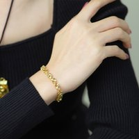 Gold Flowers Rhinestone Crystal Bridal Bracelets Clover heart-shaped bracelet Wedding Luxury Bridesmaid Earrings Bridal Accessories