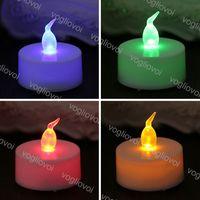 Outras luzes Flameless LED Tea Light Velas de Bateria Operado Quente Branco Pilar Branco Bluk para decorações românticas DHL