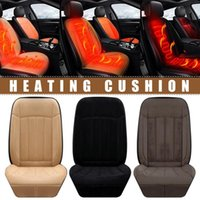 Alfombras Smart Car Estudia Calefacción Cojín Imitación Cashmere 12V / 24V Cubiertas de asiento con calefacción universal # XX