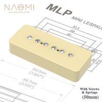 Naomi Vintage P90 SOAP Bar Style E-Gitarre Pickup Hals 50mm Pole Abstand W / 6 stücke Einstellbare Schrauben Cremeabdeckung