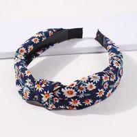 Flower Knotted Headbands For Women Daisy Chrysanthemum Cross Hairbands Head Hoop Elegant Tiara Turban Band Headwear1