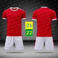US FAST 21 22 Home Jersey Manga corta roja Jerseys de fútbol Uniformes Boys Girls Kids Soccer Ropa Soccers Formación T Shirt 2021 2022 con logo # MLZ-21B1