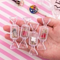ZJX TRASPARENTE CANDY STOCCAGGIO Scatole di imballaggio Net Red Girl's Heart Jewelry Boxes Orecchini Stud Stoccaggio Mini Gioielli portatili