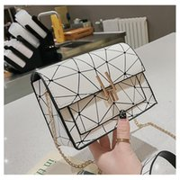 Evening Bags 2021British Fashion Simple Small Square Bag Women's Designer Handbag High-quality PU Leather Chain Mobile Phone Shoulder
