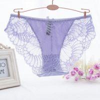 Bayanlar Dantel Külot Külot Kadınlar Seksi Bikini İç Kadın Hollow Şeffaf Tanga Artı Boyutu Erotik Lingerie E6VX #