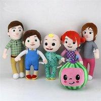 Melon JJ Plush Toys Cocomelon Kids Gift Cute Stuffed Toy Educational Plush Doll Cartoon Family Cocomelon Christamas Gift