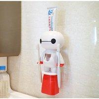 1 Set Tooth Porte-brosse Distributeur automatique Dentifrice Distributeur de brosse à dents Titulaire de la brosse à dents Tools de bain 210322