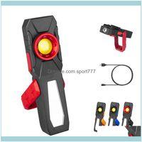 Tragbare und Campingwanderung Sport OutdoorPortable Laternen USB-Aufladung Magnetisch mit hängendem Haken für Autoinspektion Super Hell Le