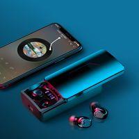 YH-03 Wireless BT5.0 TWS Earphone with LED Display Slider Cover Earphones 10000mAh Power Bank for Phone 9D Stereo Hifi Bass Earbuds Waterproof Sports Headphone