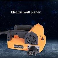 110V / 220V 1400W Elektrische Wandhobelschaufel- und Schleifmaschine Selbstansaugender staubfreier Schaufel + Staubsauger Power Tool-Sets