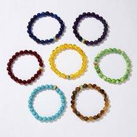 Bracelet Gay Creative Matte Pride pour Femmes Rainbow Couple amoureux Bracelets Perles de Tiger Eye Pierre Bijoux Cadeaux 2021 Charm