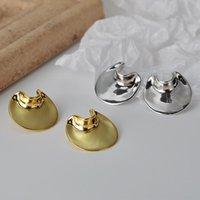 Стерлинговое серебро MLKENLY S925 S925 для женщин Smoonth Coll Colder Геометрические серьги Модные моды Pendientes Ювелирные изделия