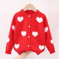 Pullover 2021 Autumn Winter Clothes Girls Cardigan Knitted Sweater Children Cardigans Baby Toddler Long Sleeve Kids Jacket Coat