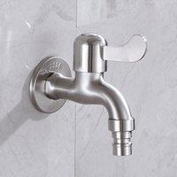 304 Edelstahl Waschmaschine Wasserhahn Schnellöffnung Wasserhahn Einzelne Kühlung Wasser Pool Mopp Pool Balkon Garten Tap Bartrock Toilette Special