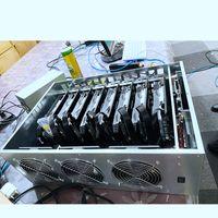 سوبر حالات الكمبيوتر بطاقات الرسومات RX580 8GB منصات التعدين 225MH / S-230MH / S eth عامل المنجم 8GPU RX5808GB مع 2500W امدادات الطاقة