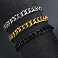 Pulseras de acero inoxidable de alta calidad para hombres Pulseras de cadena de enlaces de punk de color punk en blanco en los regalos de la joyería de la mano Trend X0706