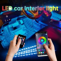Car Foot Ambient LED Strip Light With USB Cigarette Lighter Backlight Music Control App RGB Auto Interior Decorative Atmosphere Lights