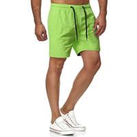 Pantalones cortos Tamaño europeo de 5 puntos Color seco rápido Color Sólido Pantalones Pantalones deportivos para hombre Pantalones cortos de fitness Diez colores